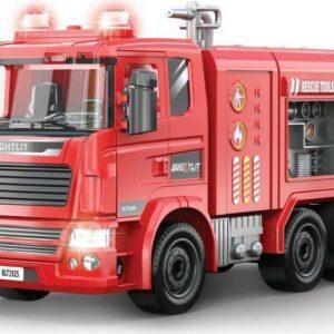 Auto hasičské s dělem - skládací model 36 cm
