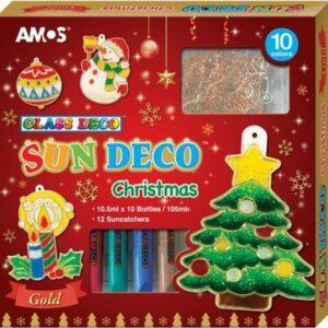 Barvy na sklo - vánoční sada 10 barev 10