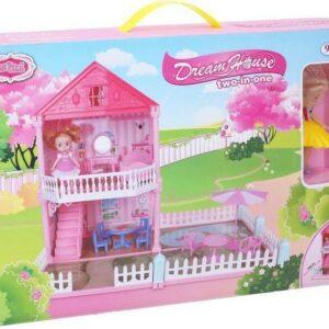 Domeček pro panenky se zahrádkou 50x34x42 cm