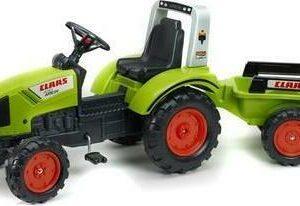 FALK Traktor šlapací Claas Arion 430 s vlečkou