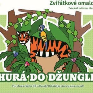 Zvířátkové omalovánky - Hurá do džungle
