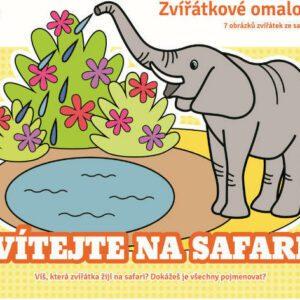 Zvířátkové omalovánky - Vítejte na safari
