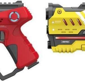 Laser hra pro dva 22 cm - žlutá a červená barva