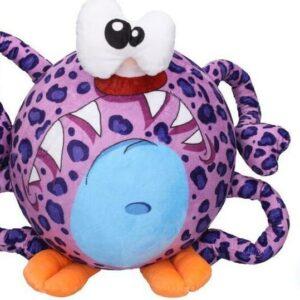 Míč nafukovací plyšový - fialový pavouk 30 cm