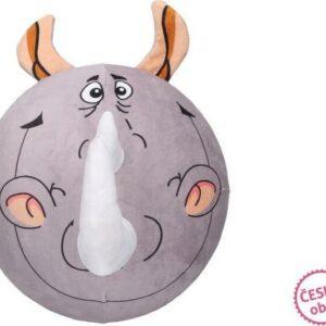 Míč nafukovací plyšový - nosorožec 30 cm