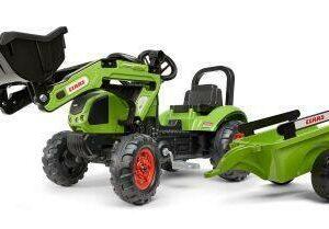 Šlapací traktor Claas Arion s nakladačem a vlečkou