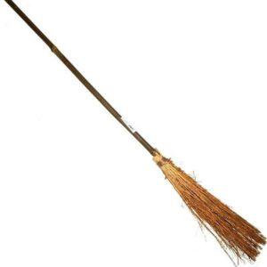 Čarodějnické koště 94cm bambus+roští