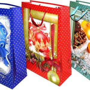 Dárková taška L 43x30x12cm Vánoce