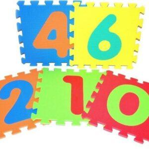 Bloky měkké - Číslice 10 ks 32 x 32 cm