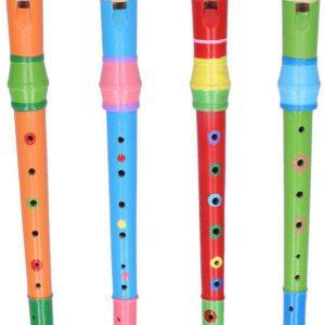 Flétna dřevěná barevná 31 cm