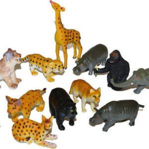 Zvířátka safari 6 ks 8 cm - 2 druhy